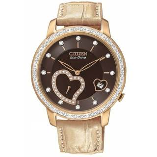 Citizen Women's 'Desire' Eco-drive Rose Goldtone Diamond Watch