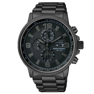 Citizen Men's CA0295-58E Eco-drive 'Nighthawk' Blacked-out Dial Chronograph Watch
