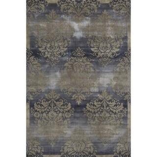 Hand-Tufted Valencia Damask Slate Rug (5'3 x 8'0)