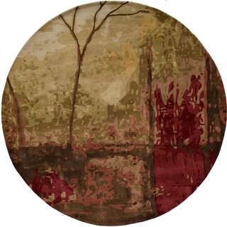 Hand-tufted Monet Autumn Multi Rug (8'0 x 8'0)