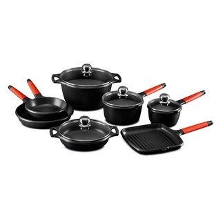 Fundix by Castey 11-piece Red Handle Cookware Set