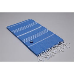 Authentic Royal Blue Fouta Turkish Cotton Towel