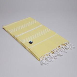 Authentic Fouta Yellow Turkish Cotton Towel
