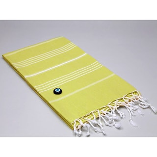 Authentic Fouta Citrus Green Turkish Cotton Towel