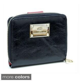 Anais Gvani Genuine Italian Leather Block-Color and Zip-Around Wallet