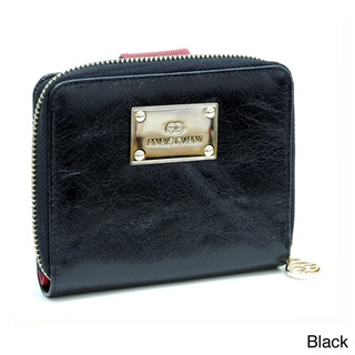 Anais Gvani Genuine Italian Leather Block-Color and Zip-Around Wallet