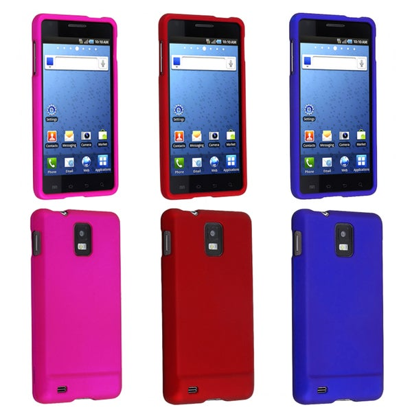 BasAcc Red/ Dark Blue/ Hot Pink Cases for Samsung Infuse 4G i997 (Pack of 3)