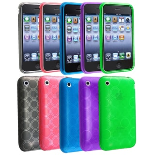 BasAcc TPU Rubber Case Set for Apple iPhone 3G/ 3GS (Pack of 5)