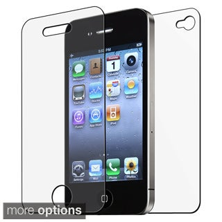 BasAcc Front/ Back Screen Protector for Apple iPhone 4/ 4S (Pack of 6)