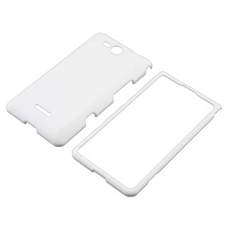 BasAcc White Snap-on Rubber Coated Case for LG Lucid VS840