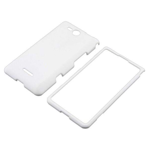 BasAcc White Snap-on Rubber Coated Case for LG Lucid VS840