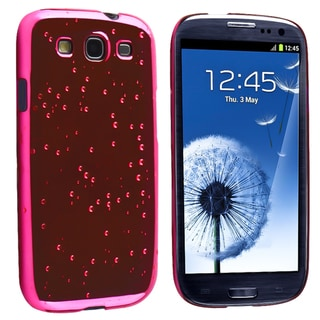 BasAcc Hot Pink Raindrop Snap-on Case for Samsung Galaxy S III/ S3