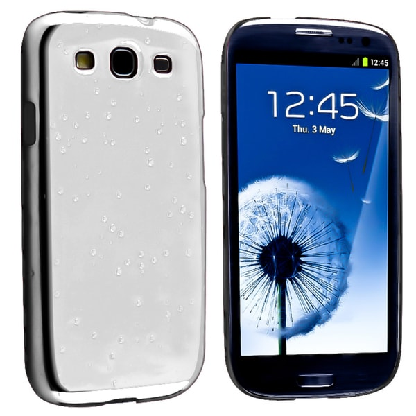 BasAcc Chrome Raindrop Snap-on Case for Samsung Galaxy S III/ S3