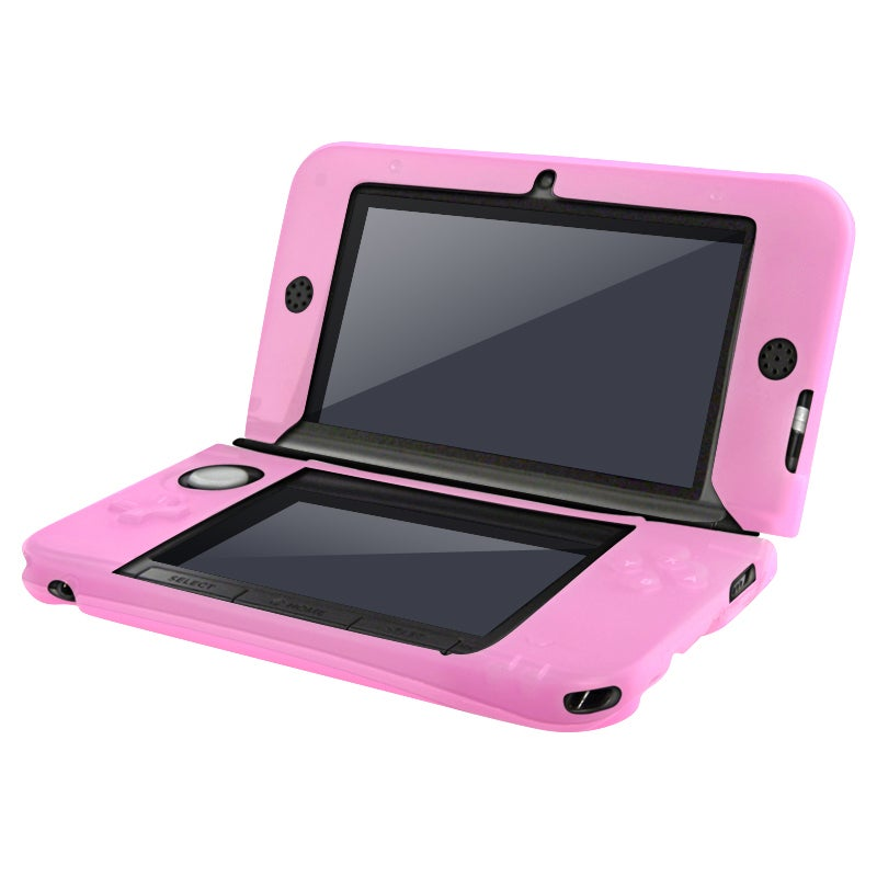 INSTEN Pink Soft Silicone Case Cover for Nintendo 3DS XL