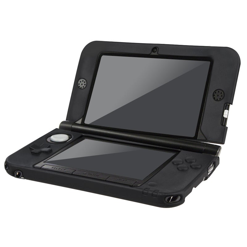NinDS 3DS - BasAcc Black Silicone Case for Nintendo 3DS XL