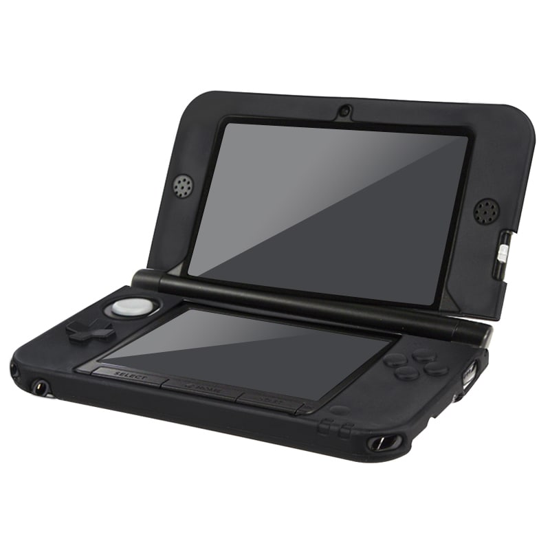 INSTEN Nintendo 3DS - Black Soft Silicone Case Cover for Nintendo 3DS XL