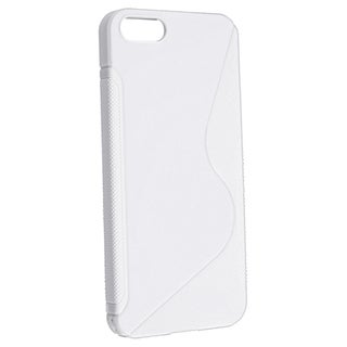BasAcc White S Shape TPU Rubber Case for Apple iPhone 5