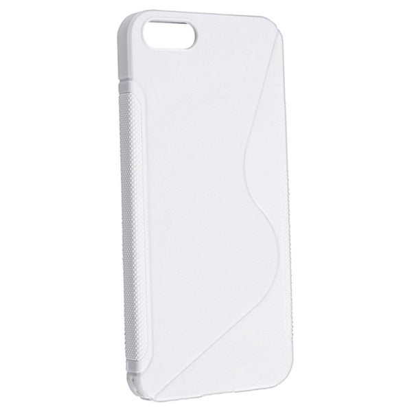 INSTEN White S Shape TPU Rubber Phone Case Cover for Apple iPhone 5/ 5S
