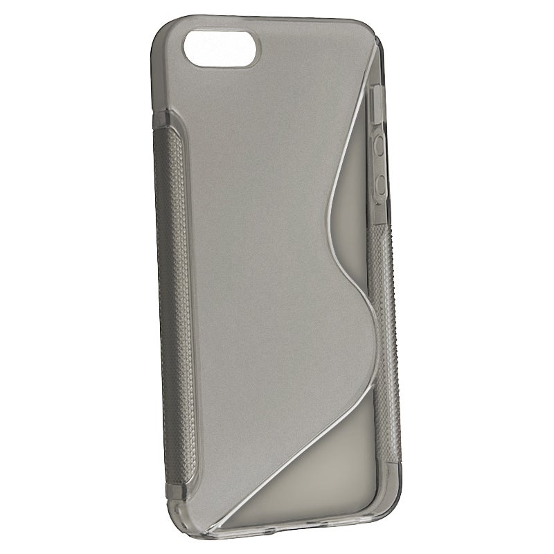 INSTEN Clear Smoke S Shape TPU Rubber Phone Case Cover for Apple iPhone 5/ 5S