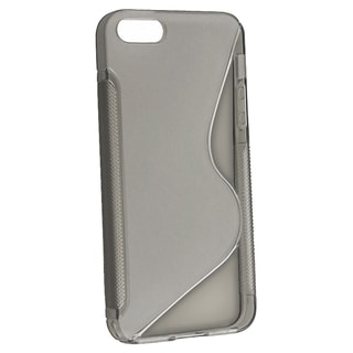 BasAcc Clear Smoke S Shape TPU Rubber Case for Apple iPhone 5