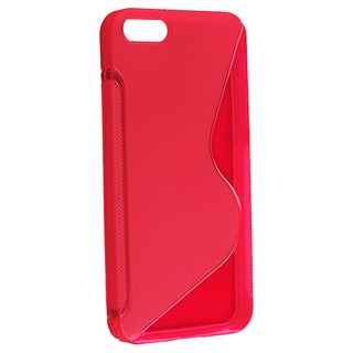 BasAcc Clear Red S Shape TPU Rubber Case for Apple iPhone 5