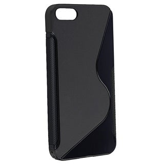 BasAcc Black S Shape TPU Rubber Case for Apple® iPhone 5/ 5S