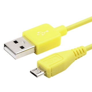 BasAcc 3-foot Yellow Universal Micro USB 2-in-1 Cable