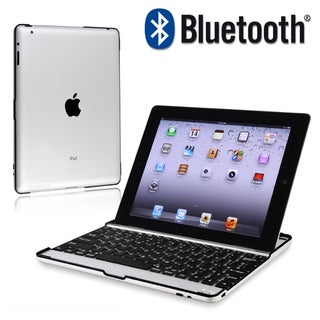 BasAcc Bluetooth Keyboard with Dock for Apple iPad 2/ 3/ New iPad