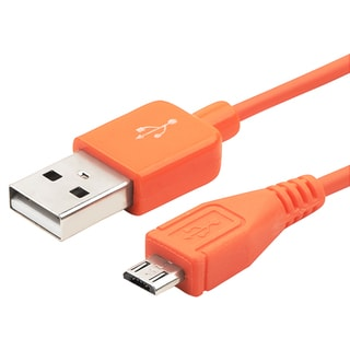 BasAcc 3-foot Orange Universal Micro USB 2-in-1 Cable
