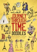 Journey Through Time Doodles: Famous Moments in Full-Color to Complete and Create (Paperback)
