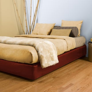 Full-size Red Platform Bed Kit