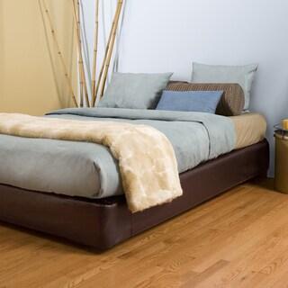 Full-size Brown Platform Bed Kit