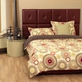 King-size Red Platform Bed and Headboard Kit