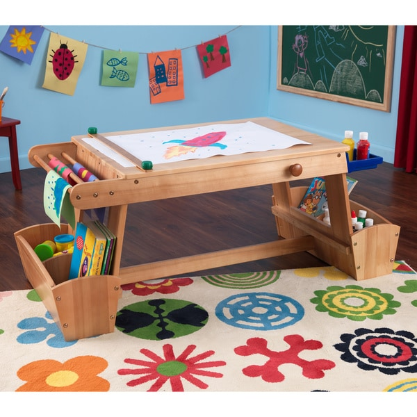 KidKraft Art Desk with Drying Rack and Storage 9664345
