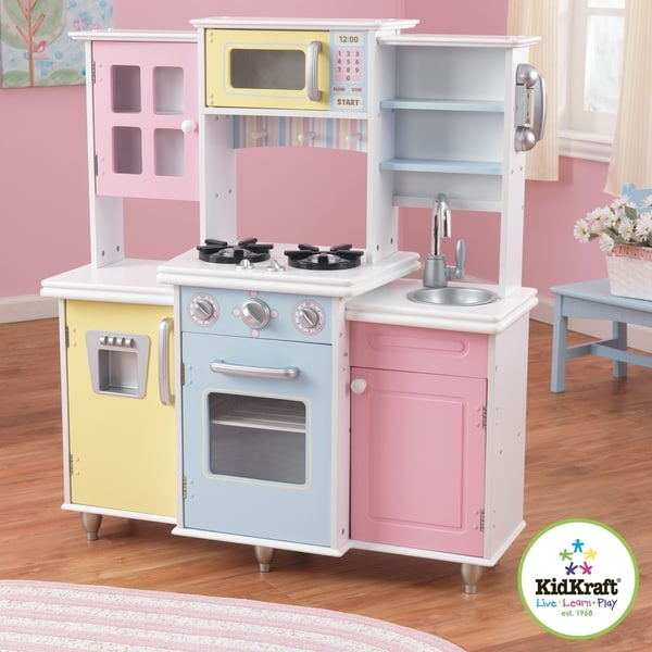 Kidkraft master 39 s cook kitchen play set 14668196 for Kitchen set for 1 year old