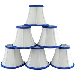 White/ Blue Linen Small Shades