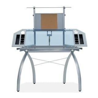 Studio Designs Silver / Blue Glass Futura Tower