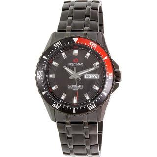 Precimax Men's Carbon Pro Black Stainless-Steel Watch