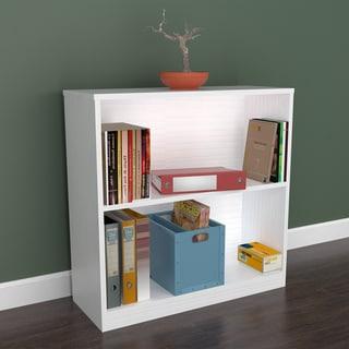 Inval White Two Shelf Desk Bookcase