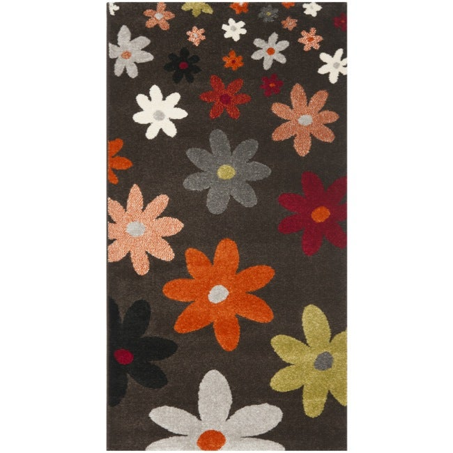 Porcello Daisies Brown Rug (2' x 3'7)