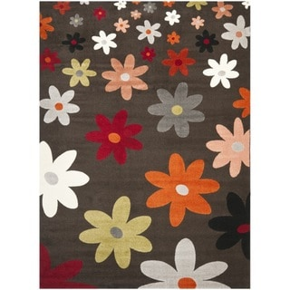 Porcello Daisies Brown Rug (5'3 x 7'7)