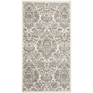 Porcello Damask Ivory/ Grey Rug (2'7 x 5')