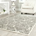 Porcello Damask Ivory/ Grey Rug (4' x 5' 7)