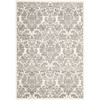 Porcello Damask Ivory/ Grey Rug (5'3 x 7'7)