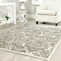 Safavieh Porcello Damask Ivory/ Grey Rug (5'3 x 7'7)