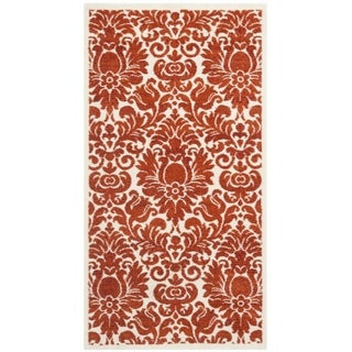 Safavieh Porcello Damask Ivory/ Red Rug (2'7 x 5')