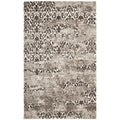 Deco Inspired Abstract Beige/Light Gray Rug (6' x 9')