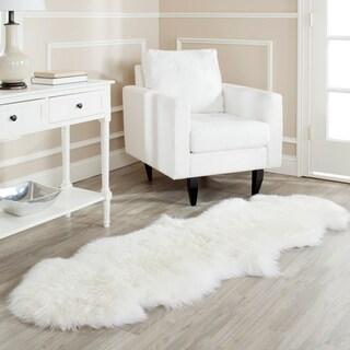 Prairie Sheepskin/ Wool White Shag Rug (2' x 6')