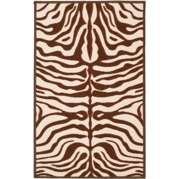 Safavieh Metropolis Tiger Cream/ Brown Rug (3'3 x 5')