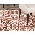 Metropolis Tiger Cream/ Brown Rug (4'7 x 6'6)